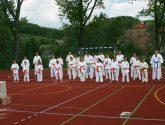 Pokaz Karate podczas Dnia Dziecka w Łososinie Górnej