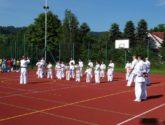 Pokaz karate na Dniu Dziecka w Łososinie Górnej