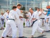 Pokaz karate podczas Wielkiego Maratonu Fitness Centrum Chełmiec