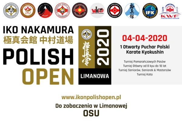 IKO Nakamura Polish Open 04-04-2020 – Informacje
