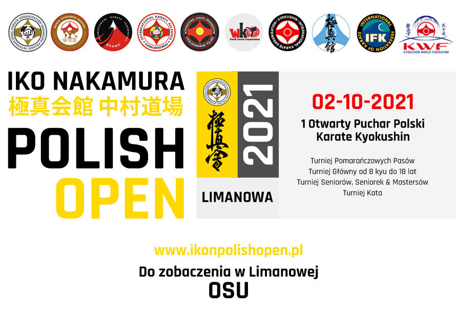 IKO Nakamura Polish Open 02-10-2021 – Informacje